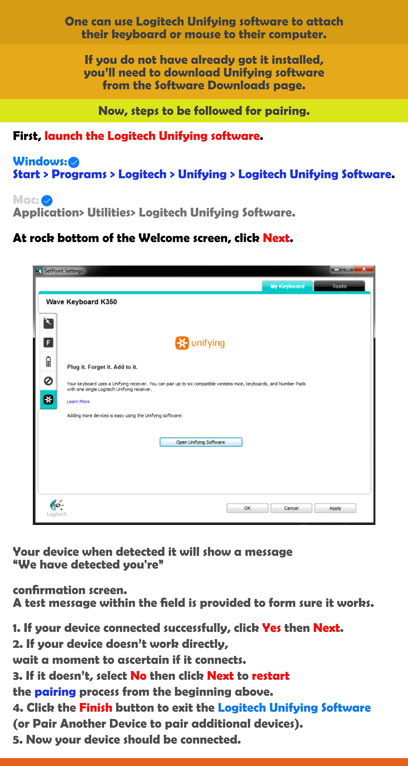How to pair Logitech unifying software