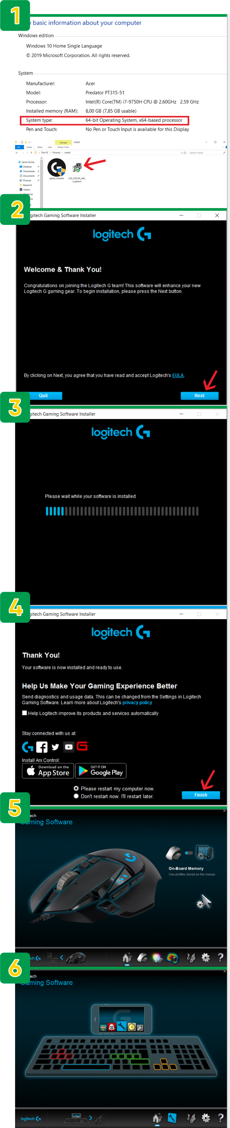 logitech gaming software install