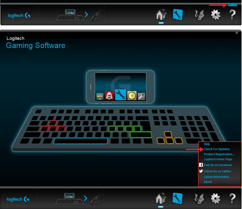 how to logitech gaming software update